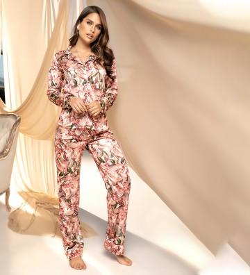 Pijama pantalón largo floral