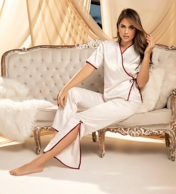 Pijama pantalón largo y...