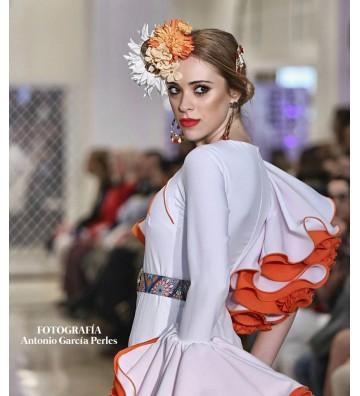 Vestido de flamenca Blanco...